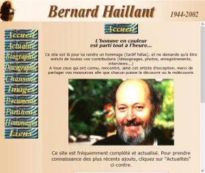 un autre site sur Bernard Haillant