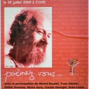 Affiche Soirée Bernard Haillant Barjac
