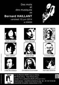 Affiche Des mots et des musiques de Bernard Haillant